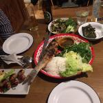 Isaan sausage and grilled sea bass