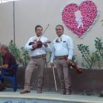 Mariachi entertainment in the yard