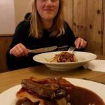 Evening meal from bar menu