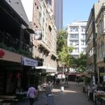 Pedestrian lane of bars and cafes