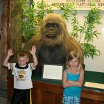 Nice displays, here is a picture of two grandchildren, with the Sloth, there are a lot of animal