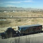 The view across El Paso and into Juárez from our room
