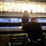 Bright bar and seating