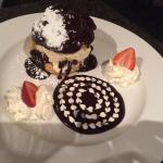 Profiterole dessert.