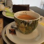 Výborná káva a pěkné prostředí starobylé vily.