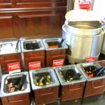 Assorted salad items