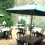 Private patio, outdoor seating with full service