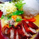 Duck with Peanut Sauce , Veggies & Rice1