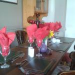 Attractively  decorated  tables....