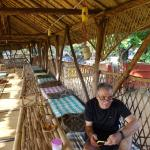 upper floor of veranda - for eating, resting, for shade, wifi available here
