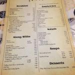 The menu.  3/2016