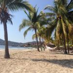 La Ropa Beach a 4 minute walk downhill from the hotel