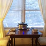 Phelipe saw or crockpot while he was cleaning our room and set up a dining set for us.