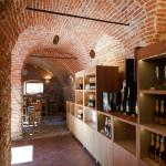 The vaulted interior of the tasting and sales room