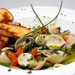 Steamed Manila Clams in white wine sauce