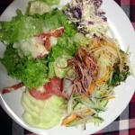 Some of the salads from the buffet