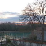 Vue du coucher de soleil depuis la chambre