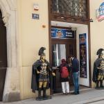 Römerfiguren Eingang Time Travel