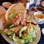 Pulled chicken taco salad