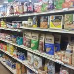 Healthy and gourmet options on the shelves.