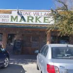 The storefront of Stone Village Market.