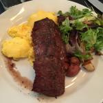 Hardwood Grilled Steak and Scrambled Eggs