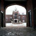 Tudor Courtyard in the snow