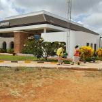 Manda Airport's new terminal building.