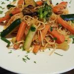 Spaguetti aux quatre légumes