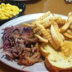 My order of dry pulled pork, stale fries, and cold bread