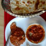 Fixed serving of paneer butter masala n butter nan...