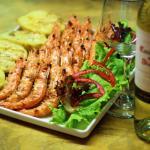 Churrasco de camarão