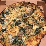 Cold dry pizza (spinach artichoke) from curbside pick up