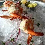 Chilled Poached Prawns - Vadouvan Curry Aioli