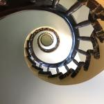 Spiral stair case going up