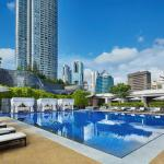 Outdoor Swimming Pool with Private Cabanas