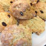 Wonderful scones with real jam, too!