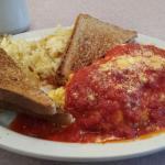MEATBALL omelet! :)