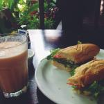 Sandwich and a smoothie for lunch! yum.