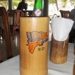 Voici une grosse biere avec boc de bois