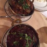 lamb vindaloo and beef bhuna