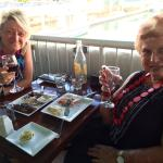 Enjoyable meals with a nice accompanying glass of wine, overlooking the marina.