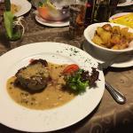 Steak mit Speck-Kartoffeln