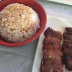 brochette boeuf riz
