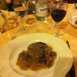 Local steak with porchini