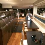 Photos from shop refit ! New 6 pan range , wider take away with extra till and non slip flooring