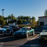 A mix of cars at Creswell Cars & Coffee.