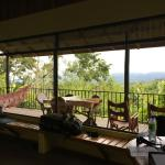 View from the Congo cabin.  Coffee on the balcony every morning.