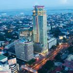 Aerial view of Crown Regency Hotel & Towers, the tallest hotel building in the Philippines