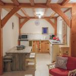 Etable gite kitchen & dining area
